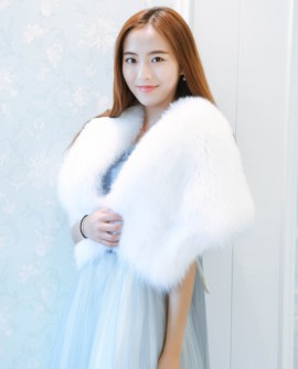 Fox Fur Capelet 882 White 1