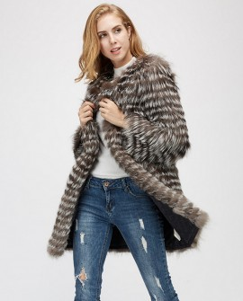 Silver Fox Fur Jacket 970a
