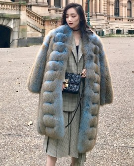 Fox Fur Long Coat 0053a