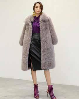 Fox Fur Long Coat