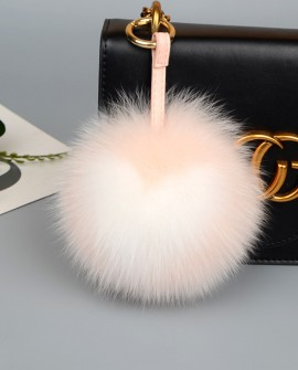 Fox Fur Pompoms Pendant Bag Charm 891a