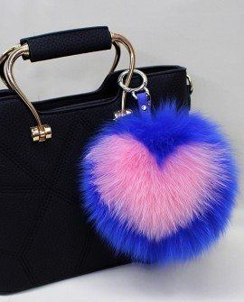 Fox Fur Pompoms Pendant Bag Charm 893a