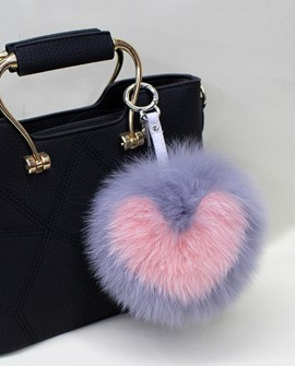 Fox Fur Pompoms Pendant Bag Charm 894a