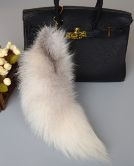 Fox Fur Tail Pendant Bag Charm 904a