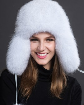 Fox Fur Trapper Hat 858a