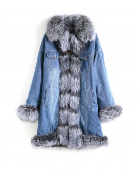 Fox Fur Trimmed Wintercoat Jean Parka 0065be