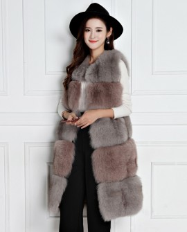 3/4 Length Fox Fur Vest