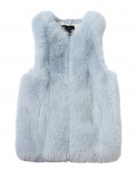 Fox Fur Vest with Mink Fur Back 0040a
