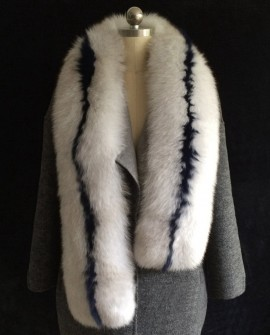 Fox Fur Wrap 834 Gray 1