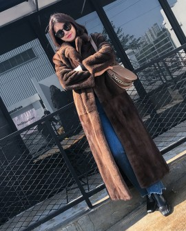 Full Length SAGA Royal Mink Fur Long Coat