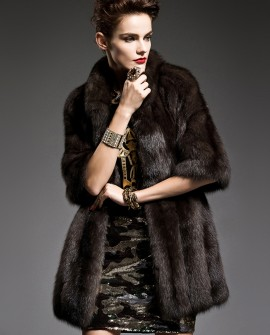 Half Sleeve Sable Fur Coat