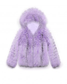 Hooded Raccoon Fur Jacket 0102c