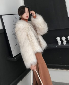 Knitted Raccoon Fur Jacket 309a