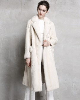 Long Pearl Mink Fur Coat