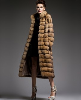 Long Sable Fur Coat 198a