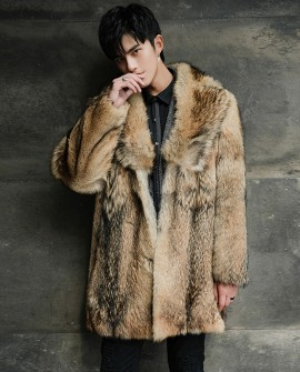 Men's Coyote Fur Coat 392a