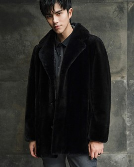 Men's Mink Fur Coat 393a