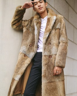 Men's Rabbit Fur Coat