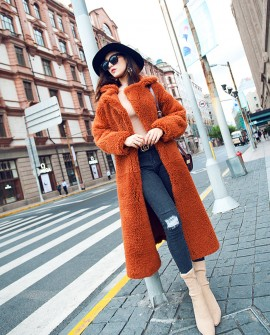 Merino Shearling Sheepskin Reversible Long Coat 083a