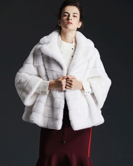 Mink Fur Cape Jacket 0078a
