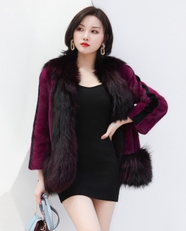 Mink Fur Coat With Silver Fox Fur Trim