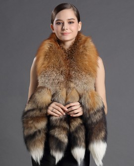 Red Fox Fur Shawl 913a
