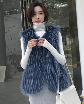 Raccoon Fur Vest 310a