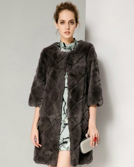 Sheared Rex Rabbit Fur Jacket