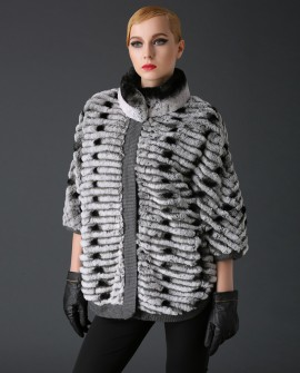 Rex Rabbit Fur Jacket with Cashmere Inner
