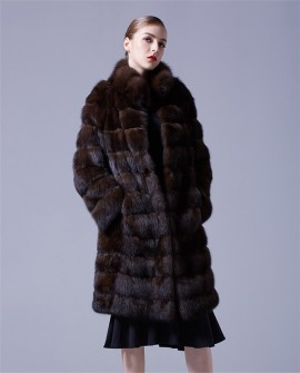 Sable Fur Long Coat 069a