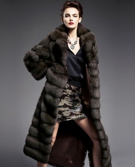 Sable Fur Long Coat 194a