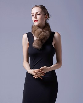 Sable Fur Scarf 071a