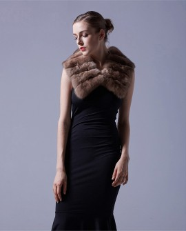 Sable Fur Scarf Bridal Capelet Neckwarmer 050a