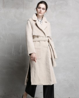 3/4 Length Shearling Sheepskin Coat
