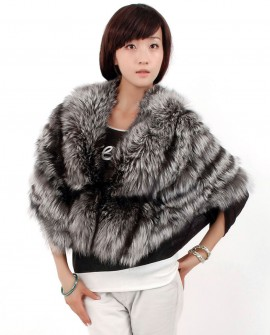 Silver Fox Fur Cape