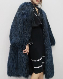 Silver Fox Fur Coat