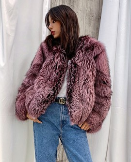 Silver Fox Fur Jacket 0051a