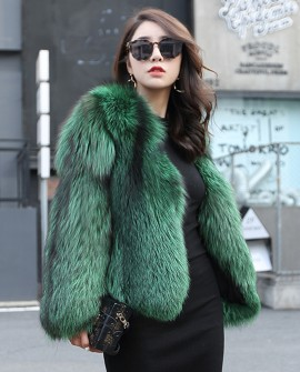 Silver Fox Fur Jacket 0068a