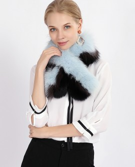Two-tone Fox Fur Scarf 368a