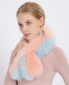 Two-tone Fox Fur Scarf 368ba