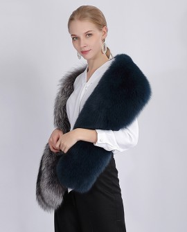 Two-tone Fox Fur Shawl 359e