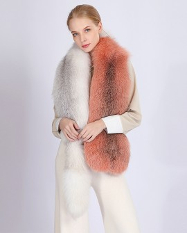 Two-tone Fox Fur Stole 362a