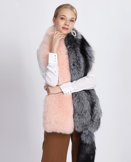 Two-tone Fox Fur Stole 363a
