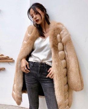 Fox Fur Long Coat 0053ba