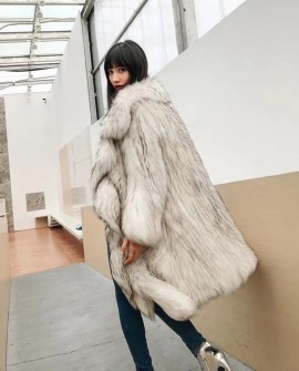 3/4 Length Knitted Raccoon Fur Coat