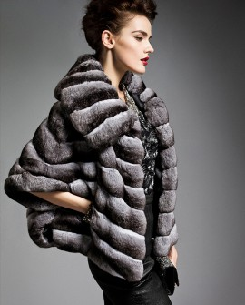 Batwing Chinchilla Fur Jacket