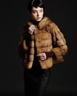 Golden Sable Fur Jacket