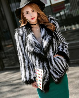 Knitted Fox Fur Jacket