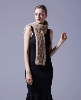 Knitted Sable Fur Scarf
