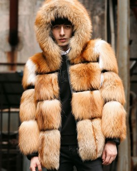 Men's Red Fox Fur Jacket